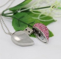 Free shipping 1GB/2GB/4GB/8GB/16GB Pink beautiful jewelry Flash memory drive (Free shipping for more than 30pcs)