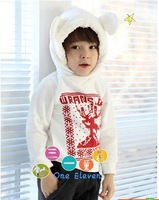 Hot sale  /boys and girls winterSpring /Autumn thick  hooded sweater casual / white jacket  Free Shipping