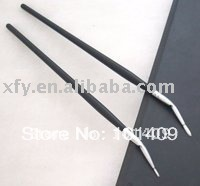 Black Handle Aluminum Ferrule Bent eyeliner brush #01 ELB-001