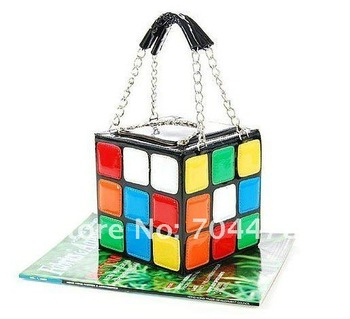 Retail-Free Sipping 2012 New Fashion Design Magic Cube Bag Tote Bag Lady's Handbag Women's Bag