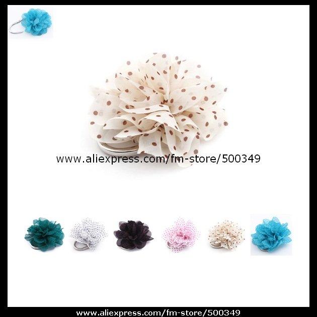 Lady Cloth Art Handmade Flower Purse Hanger PadLock Bag Hook Folable Handbag Hanger(Pick Your Color)(China (Mainland))
