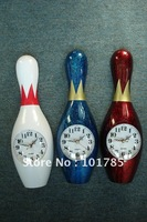 Mix colour bowling wall clock+Free shipping+( white,blue,green,red)+ christmas gift