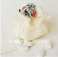 Free shipping /100 pieces / lot/  Gift bags/Organza bags/gift packaging bags/Gauze Cloth Packing Pouches