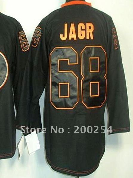 (can mix team ,player,size,color)!!!hockey jersey Philadelphia #68 Jaromir Jagr 2012 Black Ice jersey(China (Mainland))