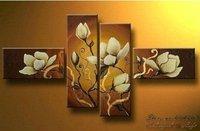 Картина Giraffe Landscape Oil Painting, 100% Handpainted! C13