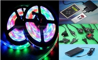 Dream color led strip light with IC6803 SMD5050 150led +controller + power adatper free shipping via china post