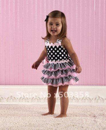 Girls Dress Designs on Girls Dress  Infants Skirts  Polka Dot Princess Style Dress 80 90 100