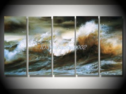Handmade Modern Art oil painting Abstract Landscape pop 5pcs(China (Mainland))