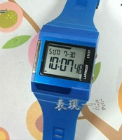 New fashion watch wristwatch digital watch, Blue color, night light, stopwatch, alarm &Free shipping
