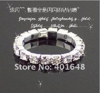 fashion  single row rings lady girl crystal ring best christmas gifts