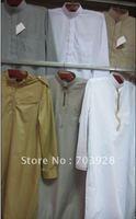 kiki 112406100%  guaranteed Men thobe with emboridery  accept paypal islamic Men abaya Islamic men wear