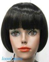 New Short Straight Black Wig BOB Head Style Women Lady Girl Daily Wear Hair Wigs