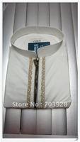 kiki 112409100%  guaranteed Men thobe with emboridery  high quality dubai abaya ,arabic men shirts Islamic men wear