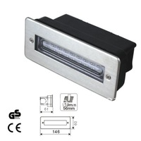 modern 2011 stainledd steel 90lm IP68 waterproof led stair light