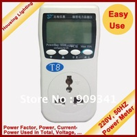 Intelligent Power Meter, Big LCD Monitor, Measure Consumption of AC Active Energy Used in Home\Rental Estates [Housing Lighting]