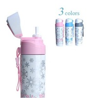 340ml double wall stainless steel vacuum water bottle.Straw bottle ,round.Keep warm and Keep cold ,Colorful.