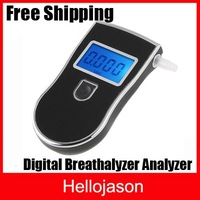Free Shipping LED Digital Precision Breathalyzer Analyzer Alcohol Breath Tester 10pcs/lot