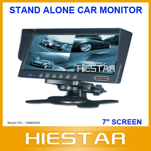 7''Inch Stand Alone Car Monitor Car rearview display monitor Supporting 4 picture splitted(Hong Kong)