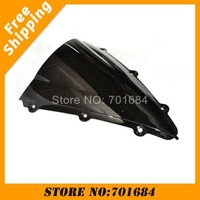 New Black Motorcycle Windshield Trim Shadow For YAMAHA R1 04-06 Windscreen Free Shipping [CK509]