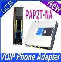 5pcs/lot UNLOCKED LINKSYS PAP2T-NA SIP VOIP Phone Adapter 2 Port