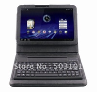 Retail foldable Bluetooth Keyboard case for MOTO XOOM 10.1' tablet pc in black + free shipping