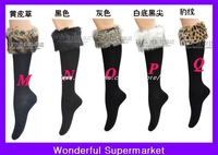 Wholesale Fur Socks for the boot, Flanging faux fur socks, women warm winter socks,50pr/lot EMS Free Shipping