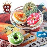 Free shipping wholesale 30pcs/lot simulation doughnut  bread squishy charm mobile chain+bread phone chain