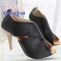 fashinable ladies high heel sandals women summer shoes fish mouth free shipping