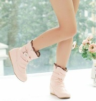 Free shipping  wholesale fashion boots/women boots inside heighten effect/short boots drop shipping