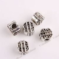 $5 off per $100 order, 40PCS Hot Sale Alloy Charms Beads Bag Shape Metal Spacer beads Fit European Chains Bracelets 151618
