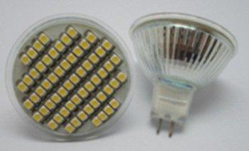 MR16 SMD LED spotlight,60pcs 3528 SMD LED,3W