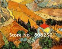 Free Shipping ,Museum Quality ,Oil Painting Reproductions On Canvas,Paysage avec une Maison et un Laboureur,