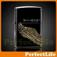 Lighters Smoking Fashion Black Angel Wings Material steel plates Z-06 free shipping