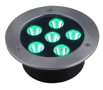 6*1W high power led underground light,DC12V input,IP68,size:DIA130mm*95mm;open hole:118mm