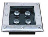 4*1W high power led underground light,DC12V input,IP68,size:105*105*60mm;open hole:95*95mm
