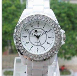 Free shipping DROPSHIPPING  watch SINOBI Fashion 3A Crystal Quartz Women Sample Watch b1850  #405