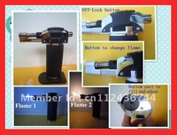 Wholesale - High Quality Multifunction BBQ Lighter Butane Gas Barbecue Lighter 2Adjustable Flames LT1104 30pc