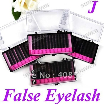 4cases MINK eyelash extension Lash Combo J Curl artificial eyelash Fake False Eye Lash Eyelashes 2098