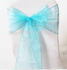 "Wholesale 105PCS Organza Chair Sashes Bow Wedding Cover Banquet Party 7.8x113""(China (Mainland))"