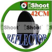 iShoot 16inch Radar Reflector / Beauty Dish & Bowens Bayonet Adapter & Flash Bracket for Canon Nikon Speedlight