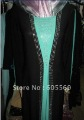 la085 2012 newest ladies' muslim abaya with diamond in two layers for wholesale for free shipping