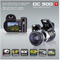 [EXPRESS FREE SHIPPING] DC500T 12MP 8X Digital Zoom digital camera with MP3/MP4 Player