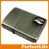 silvery Lighters Smoking Contracted fashion flame Material steel plates Z-36 free shipping