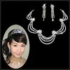 Y011 Wholesales-Special design RHINESTONES BRIDE NECKLACE EARRINGS JEWELRY simulated diamond porm jewelry sets