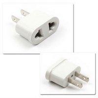 WholeSale Universal EU AUS to US USA AC Power Travel Plug Adapter + FreeShipping E04010017