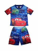 8 pieces 1 lot  Cars baby clothes set children clothing cars-12 free shipping kids clothing set