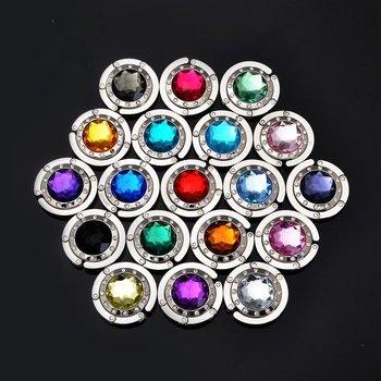 2013 Hot selling Mix 18+ Colors Fashion Round foldable Bag Hanger/Purse Hook/Handbag Holder with Acrylic!