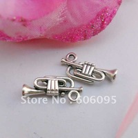 Free shipping retail tibetan silver Antique silver plated Trumpet   charms CPL40139  18x7mm  100pcs/lot