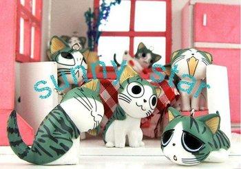 Free shipping wholesale 900pcs/lot(100 sets) Cute cartoon cats mobile phone chain+japan hotsale  sweet keychain pendant