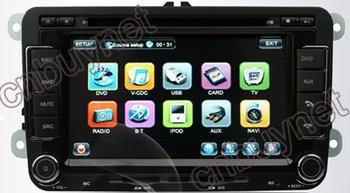 Free shipping-2007- 2011 VW Tiguan Multimedia Navigation GPS DVD System, Radio